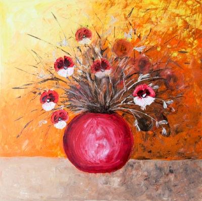 Luční květy - Katarína Regešová - Nadčasové obrazy