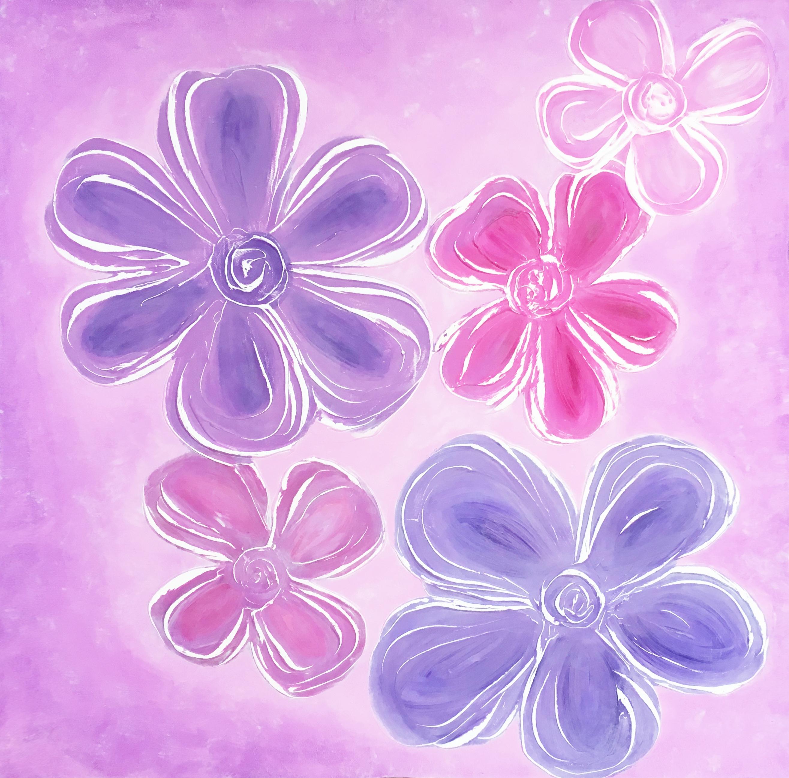 Květy léta - Katarína Regešová - Abstratkní obrazy