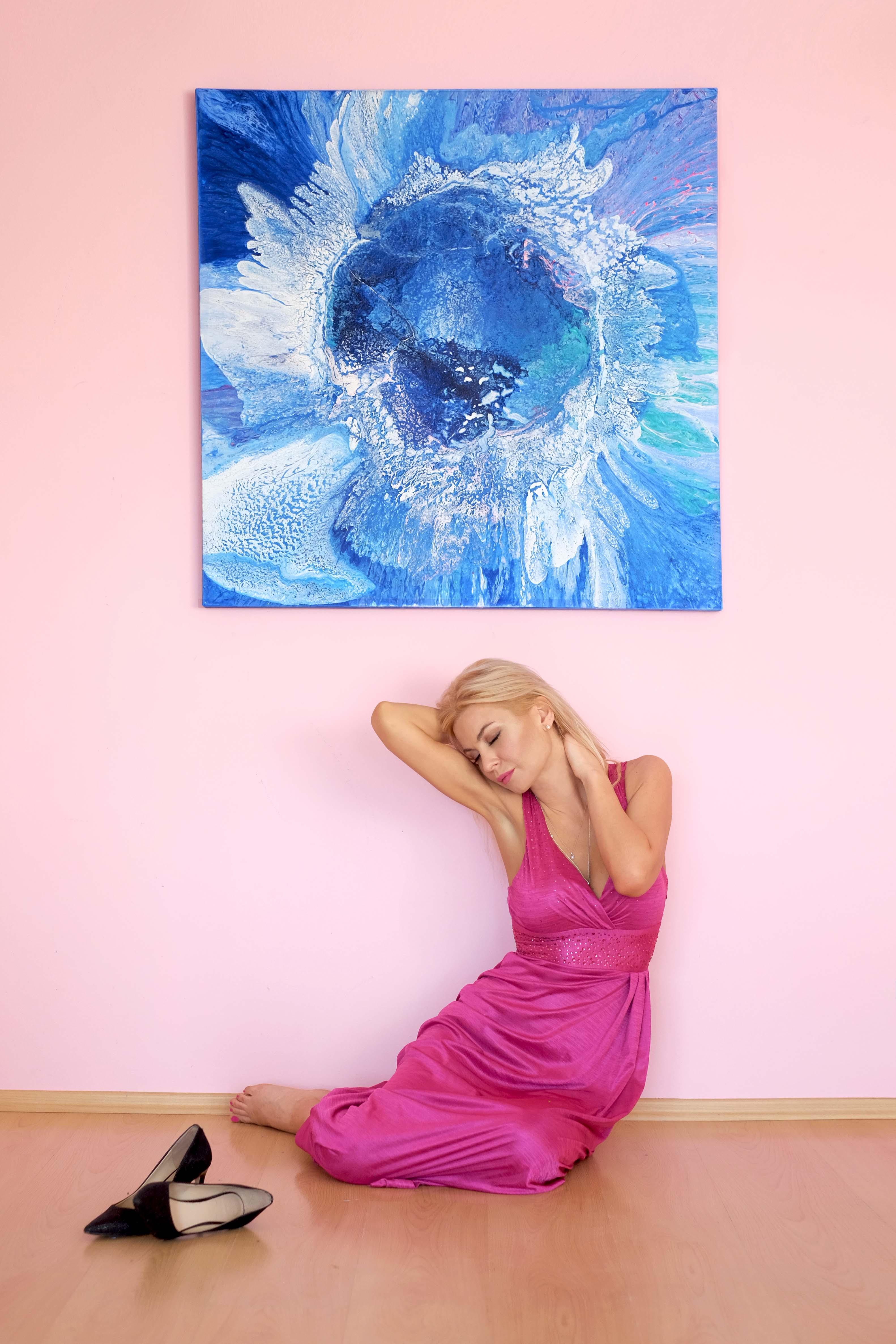 Modrý svět - abstraktní obrazy
