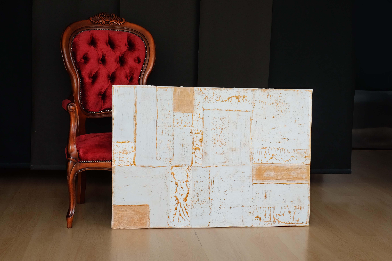 Stopa dřeva - abstraktní obrazy
